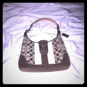 Coach Handbag - suede & leather